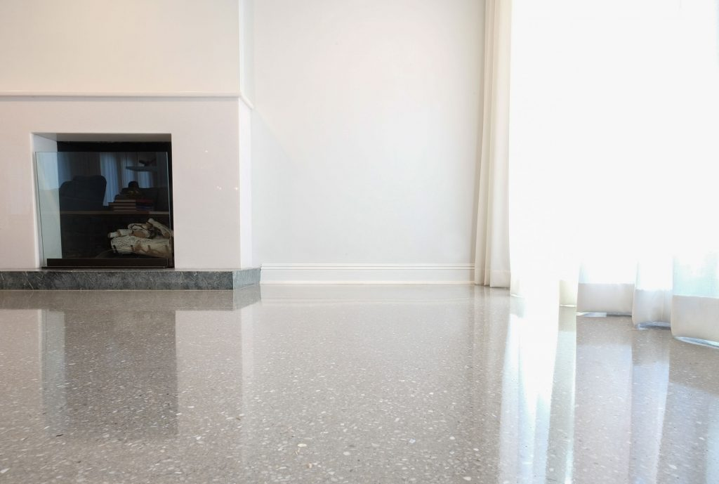 Mother Of Pearl And Natural Marble Aggregates Terrazzo Masters